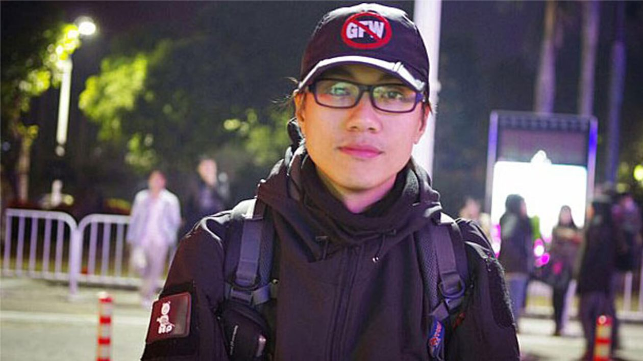Anti-censorship activist Zhen Jianghua is shown in an undated photo.Social media