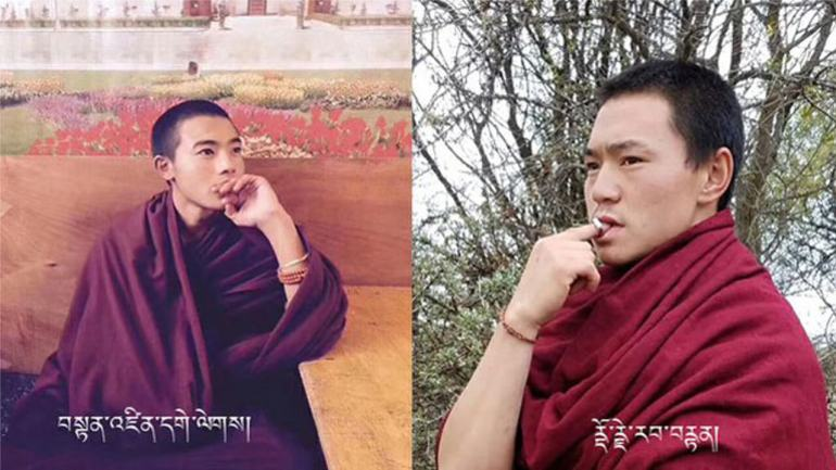 Tibetan monks Tendzin Gelek (L) and Dorje Rabten (R) are shown in undated photos. Photos provided by Kanyak Tsering and Lobsang Yeshe